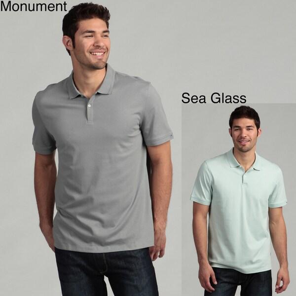 Calvin Klein Men's 2-button Liquid Cotton Interlock Polo Shirt