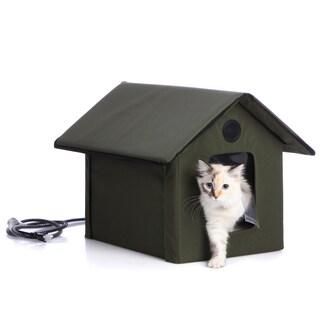K&H Outdoor Heated Kitty House with Door