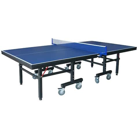 Victory Professional 9-Foot Table Tennis Table with 25mm Thick Surface, - Blue