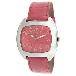 Viva Women's Silvertone Pink Watch