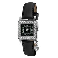 Viva Women's Square Crystal Bezel Watch
