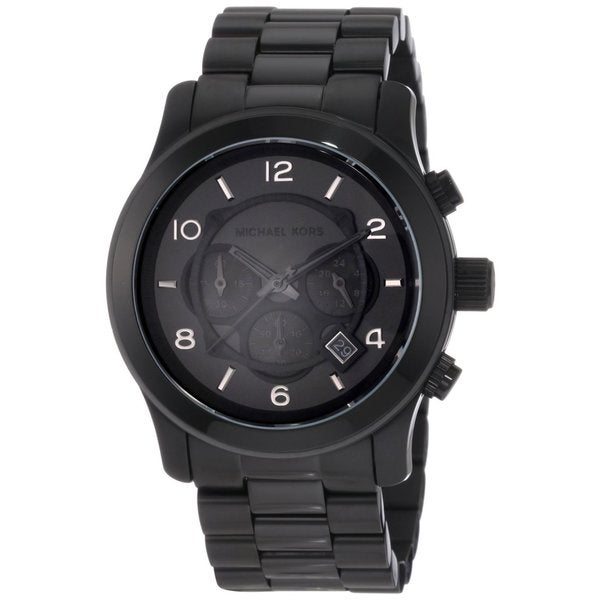 michael kors men s mk8157 black stainless steel quartz watch michael kors men s mk8157 black stainless steel quartz watch black dial