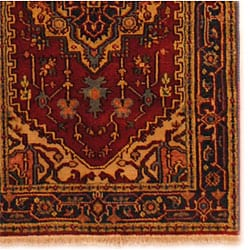 Herat Oriental Indo Hand-knotted Heriz Wool Rug (3' x 5') - Thumbnail 2