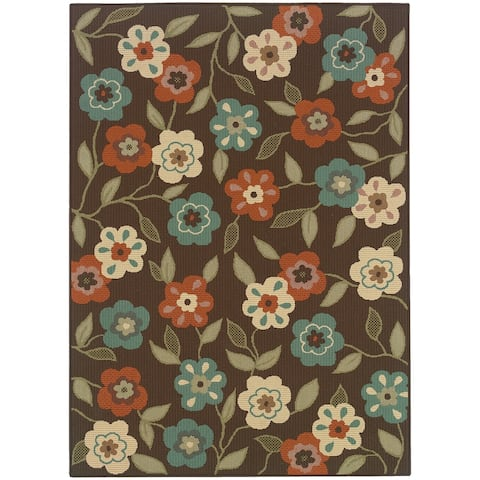 Malta Floral Garden Indoor-Outdoor Area Rug