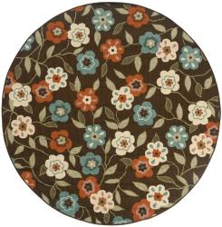 Brown/Ivory Outdoor Area Rug (7'10 Round)