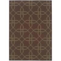 StyleHaven Lattice Brown/Green Indoor-Outdoor Area Rug - 7'10 x 10'
