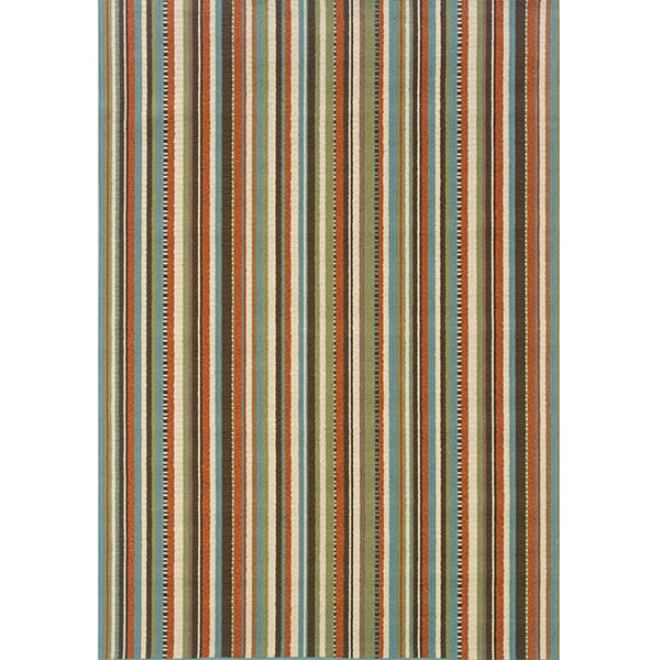 Laurel Creek Flora Striped Indoor/ Outdoor Area Rug - 7'10 x 10'10