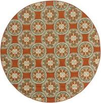 StyleHaven Floral Orange/Ivory Indoor-Outdoor Area Rug - 7'10