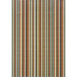 Laurel Creek Flora Striped Indoor/ Outdoor Area Rug - 5'3 x 7'6