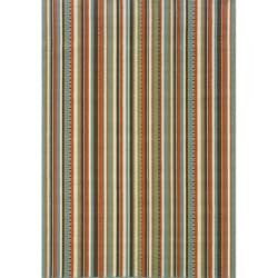 StyleHaven Stripes Green/Blue Indoor-Outdoor Area Rug (3'7x5'6)