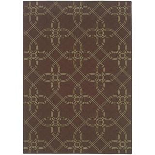 StyleHaven Lattice Brown/Green Indoor-Outdoor Area Rug (2'5x4'5)