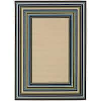 "Laurel Creek Nellie Border Area Rug  - 7'10"" x 10'"
