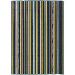 StyleHaven Stripes Blue/Brown Indoor-Outdoor Area Rug (5'3x7'6)|https://ak1.ostkcdn.com/images/products/6233264/P13875128.jpg?impolicy=medium