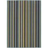 "Laurel Creek Flora Striped Indoor/ Outdoor Area Rug - 5'3"" x 7'6"""