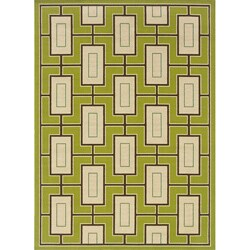 Green/Ivory Outdoor Area Rug (7'10 x 10'10)