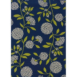 Blue/Green Outdoor Area Rug (5'3 x 7'6)