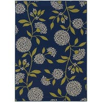 "Palm Canyon Cielo Floral Blue/Green Indoor/ Outdoor Area Rug - 5'3"" x 7'6"""