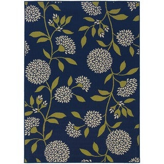 "Palm Canyon Cielo Floral Blue/Green Indoor/ Outdoor Area Rug (5'3 x 7'6) - 5'3"" x 7'6"""