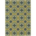 Palm Canyon Ceres Floral Green/Ivory Indoor/ Outdoor Area Rug (7'10 x 10'10)