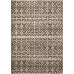 Miramar Grey/ Brown Transitional Area Rug (6'7 x 9'6)