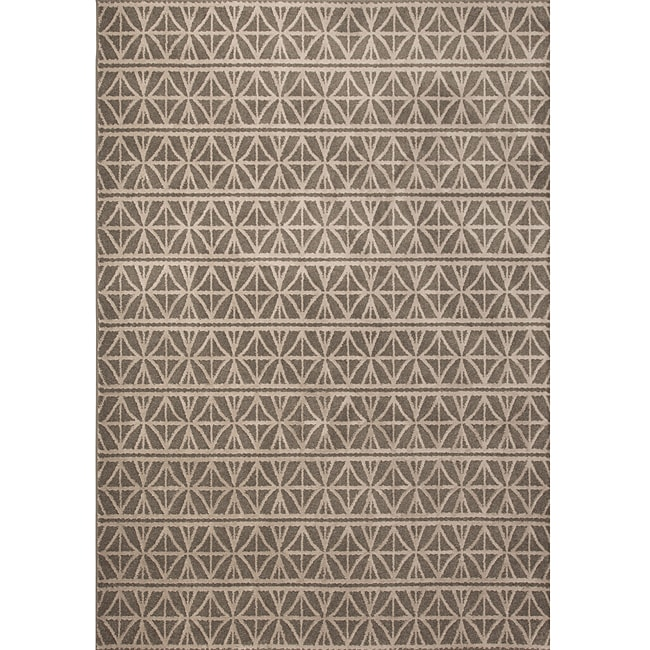 Miramar Grey/ Brown Transitional Area Rug (7'10 x 10')