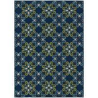 "StyleHaven Floral Blue/Green Indoor-Outdoor Area Rug (3'7x5'6) - 3'7"" x 5'6"""