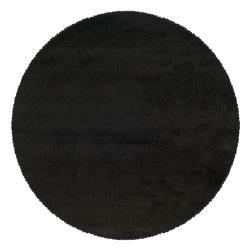 Manhattan Black Area Rug (6' Round)