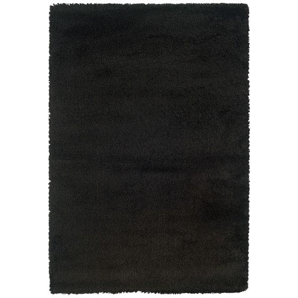 Manhattan Black Area Rug (7'10 x 11'2)