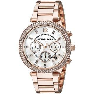 Michael Kors Women's MK5491 Rose Goldtone Chronograph Watch - Gold