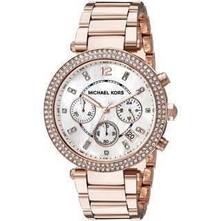 Michael Kors Women's MK5491 Rose Goldtone Chronograph Watch - Gold