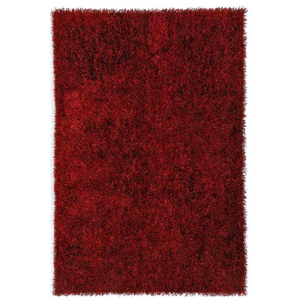Flux Woven Red Shag Rug (5' x 7'6)