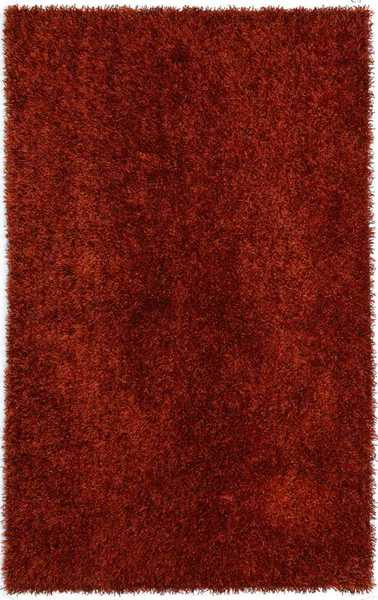 Flux Woven Red Shag Rug (3'6 x 5'6)