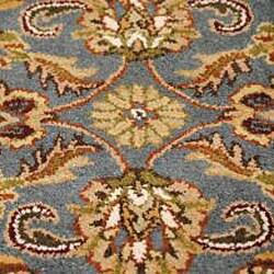 Hand-tufted Royal Garden Peacock Blue Wool Rug (3'3' x 5'3')
