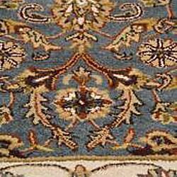 Hand-tufted Royal Garden Peacock Blue Wool Rug (8 'x 11')