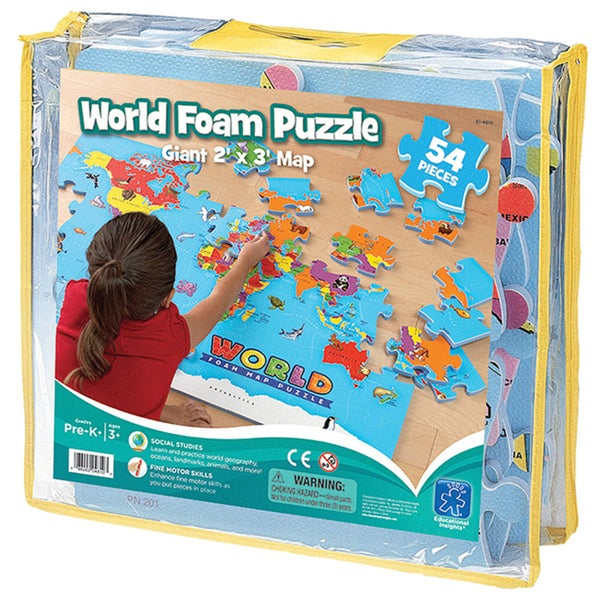 Ed In World Foam Map Puzzle