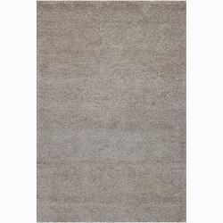 Hand-woven Mandara Grey Rug (2'6 x 7'6)