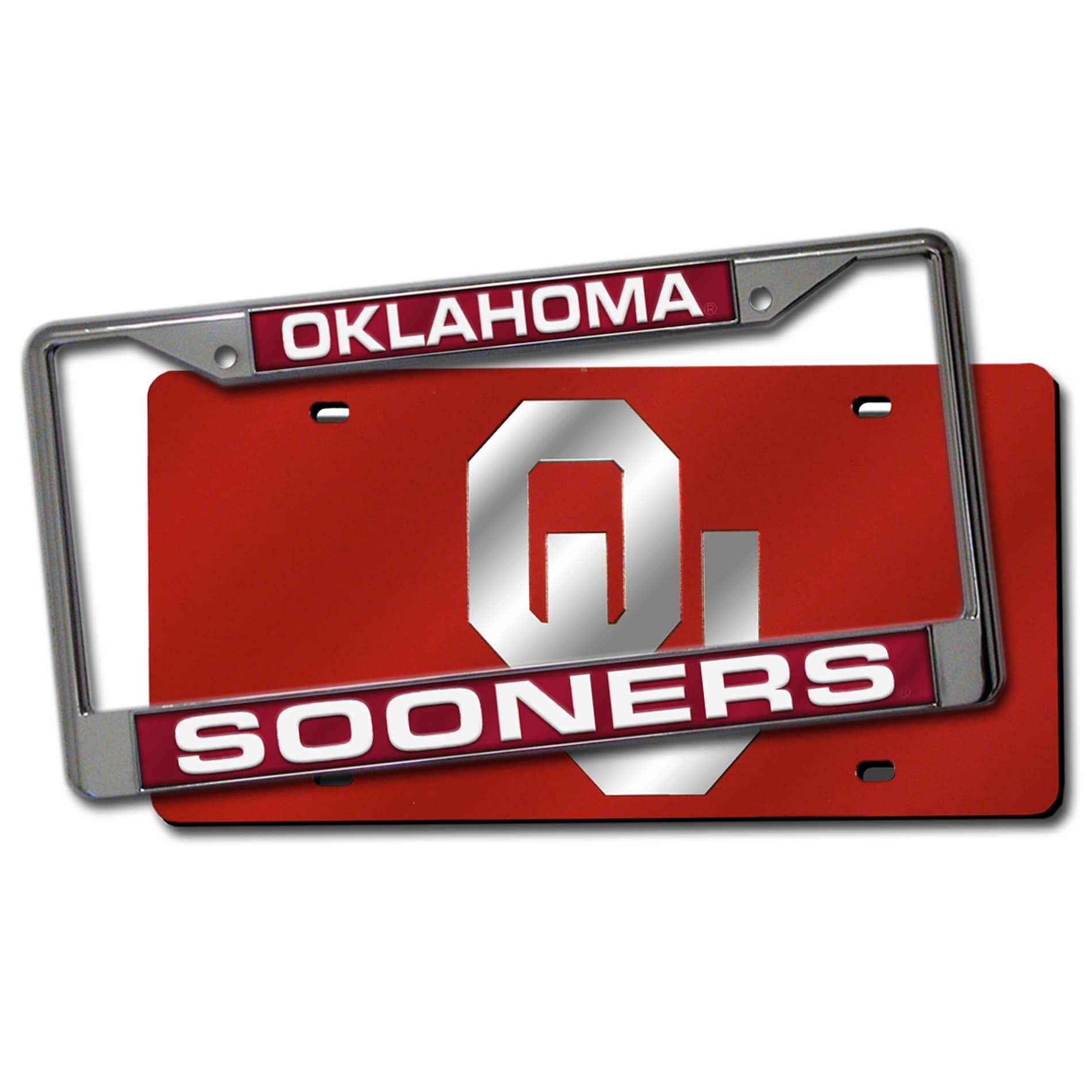 Oklahoma Sooners Laser Cut License Plate Pack