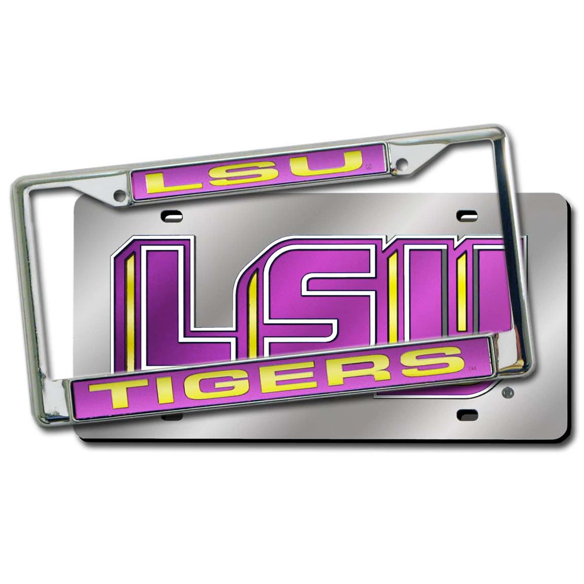 NCAA LSU Tigers Laser Cut License Plate Pack