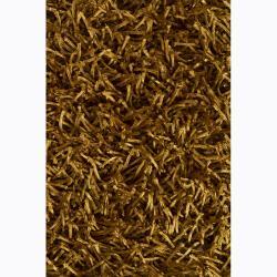 Artist's Loom Hand-woven Shag Rug (4' x 6')