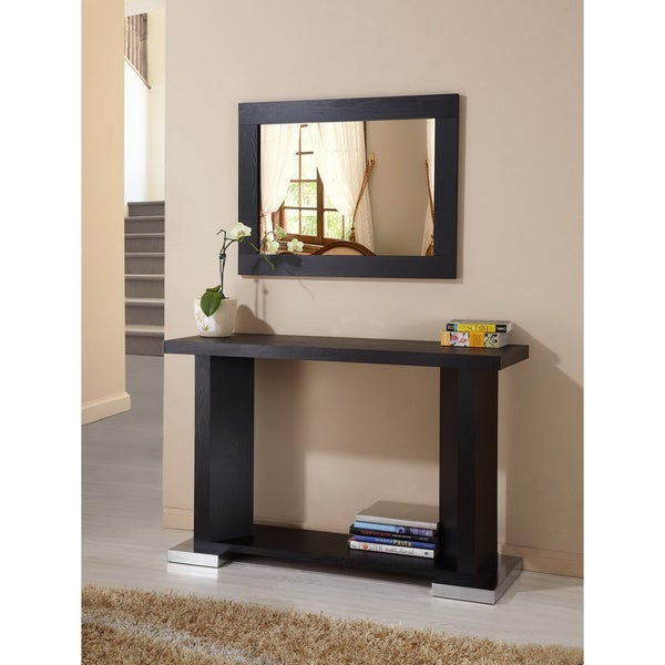 Furniture of America Century Black Framed Wall Mirror