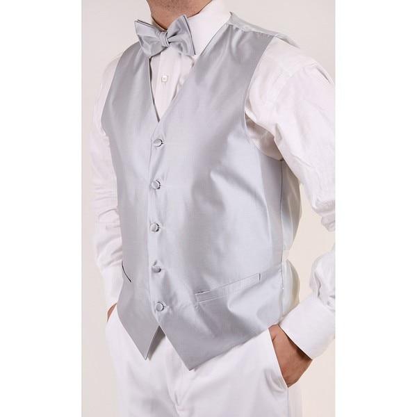 Ferrecci Men's Grey 4-piece Vest Set