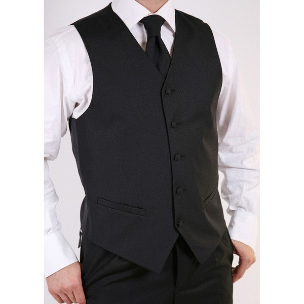 Ferrecci Men's Black 3-piece Vest Set