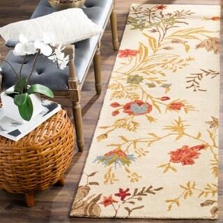 Safavieh Handmade Blossom Beige Wool Rug (2'3 x 8')