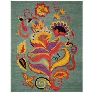 Safavieh Handmade Blossom Blue Wool Area Rug (8' x 10')