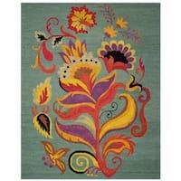 Safavieh Handmade Blossom Blue Wool Area Rug - 8' x 10'