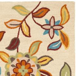 Safavieh Handmade Blossom Beige Contemporary Wool Rug (8' x 10') - Thumbnail 1