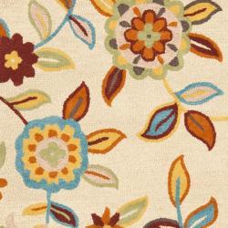 Safavieh Handmade Blossom Beige Contemporary Wool Rug (8' x 10') - Thumbnail 2