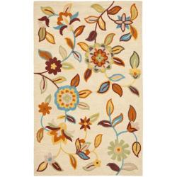 Safavieh Handmade Blossom Beige Contemporary Wool Rug (8' x 10')