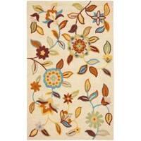 Safavieh Handmade Blossom Beige Contemporary Wool Rug - 8' x 10'