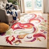 Safavieh Handmade Blossom Rust Floral Wool Rug - 4' x 6'
